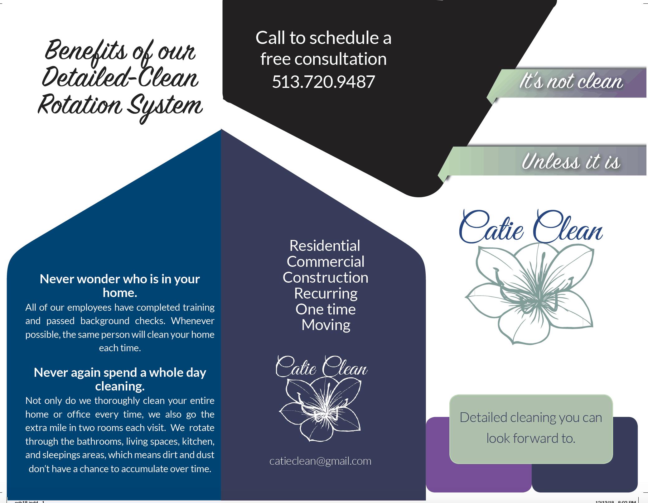 Digital Marketing Screenshot - Catie Clean